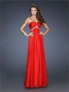 Strapless Sweetheart Ruched Bodice Beaded Empire Chiffon Prom Dress PD11361 www.dresseshouse.co.uk $120.0000