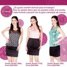 ¿Te gusta vestirte formal para el trabajo? #Lineas #outfit #moda #tendencias #2014 #ropa #prendas #estilo #moda #primavera #vestido