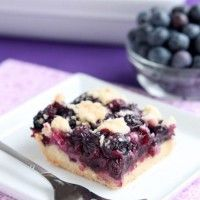 Blueberry Crumb Bars from DessertNowDinnerLater.com