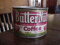 Vintage Butter Nut Coffee Tin Omaha Nebraska Nice One Old Country Store | eBay