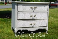 French Provincial Nightstand Makeover By House Of Red - Featured On Furniture Flippin'