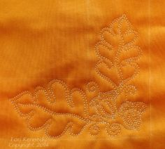Oak Leaf and Acorn-Free Motion Quilt Tutorial - Lori Kennedy Quilts Longarm Quilting, Quilting Tips, Free Motion Quilting, Quilting Tutorials, Machine Quilting, Quilting Designs, Quilting Templates, Quilting Rulers, Quilting Projects