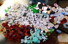 Sea glass, and pottery pieces found Sand Island, Hawaii