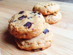 Wholly Vegan: Miso Almond Butter Chocolate Chip Cookies
