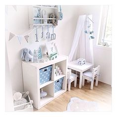 romantisk børneværelse flagranke happylight baby sengehimmel indretning lysekrone
