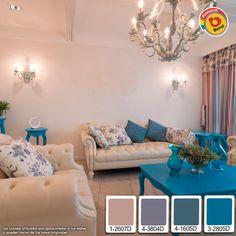 ¿Qué te parece un estilo más romántico para tu sala?