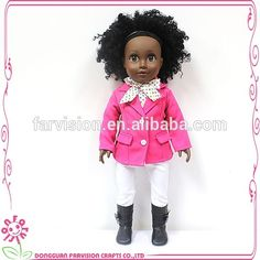 Farvision Make Customized Doll Vinyl Black African Existing Mold 18 Inch Wholesale Black Dolls, View black dolls, Farvision Girl Product Details from Dongguan Farvision Crafts Co., Ltd. on Alibaba.com