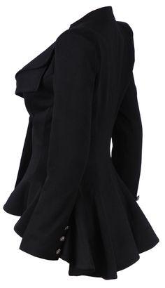 'Lucy' Black Tailored Blazer