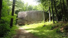Madison Boulder- Madison, New Hampshire (one of world's largest glacial erratic & largest in New England)