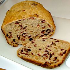 Cranberry Orange Breadmaker Bread - use Sweet setting.  Flour fruit and nuts first.