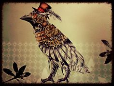Steampunk Willy the crow by xRAVENBLADEx...