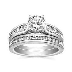 Style BDL-8631 Engagement Ring with 0.52CT side diamonds and Matching Band with 0.30CT diamonds. 14K yellow or white gold.