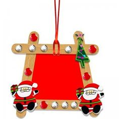 Christmas Table in Wooden Stick - Christmas Diy - pictureframe Holiday Crafts For Kids, Diy For Kids, Holiday Fun, Christmas Crafts, Christmas Ornaments, Holiday Decor, Christmas Parties, Decorating Jobs, Diy Bathroom