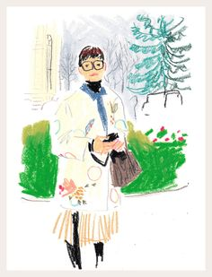 Who: Rei Shito, photographer Where: In front of the Grand Palais, before the Chanel show When: Tuesday, March 10, morning Illustration by Damien Florébert Cuypers