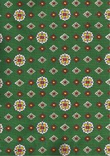tissu provençal vert