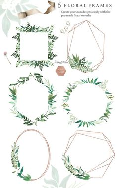 Botanist Watercolor Greenery Leaves Clipart This is a delicately hand painted leaves and floral collection, the ultimate shortcut to better creative work. Perfect for wedding cards, invitations, scrapbooking, branding, logo and more. Visit our store for more beautiful handpainted digital files: