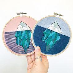 iceberg embroidery