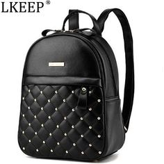 Cheap fashion leather backpack, Buy Quality leather backpack directly from China leather fashion backpack Suppliers: Women Backpacks 2018 Hot Sale Fashion Causal Bags High Quality Bead Female Shoulder Bag PU Leather Backpacks For Girls Leather Backpacks For Girls, Cute Mini Backpacks, Stylish Backpacks, Girl Backpacks, Studded Backpack, Backpack Purse, Diaper Backpack, Satchel Purse, Fashion Bags