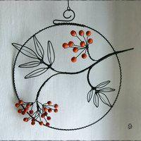 Zboží prodejce sovalaura / Zboží   Fler.cz Wire Crafts, Metal Crafts, Diy And Crafts, Arts And Crafts, Wire Wrapped Jewelry, Wire Jewelry, Copper Wire Art, Wire Ornaments, Wire Flowers