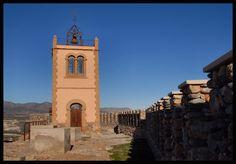 Bell tower on the castle in Seron, Almeria.