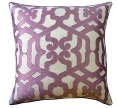 Decorative Pillow with Trellis Design
