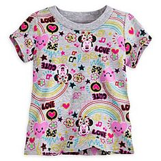 Minnie Mouse Graphic Print Tee for Baby | Disney Store It's total cuteness all around! Minnie Mouse dresses up in a colorful top featuring stars, hearts and bows of every kind! Let your baby's imagination run free in this funky fresh tee!