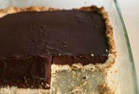 Vegan Chocolate Ganache is perfect in a tart, on brownies or in thumbprint cookies.