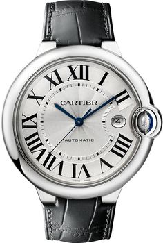 Cartier Ballon Bleu De Cartier Stainless Steel Watch - for Men http://www.thesterlingsilver.com/product/emporio-armani-valente-mens-quartz-watch-with-blue-dial-and-silver-stainless-steel-bracelet-ar1789/