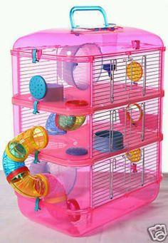 Pink hamster home
