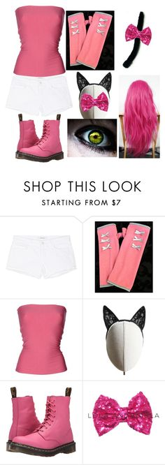 """kawaii~chan mc my street"" by chilcotea201 ❤ liked on Polyvore featuring J Brand, Sweet Virtues, Patrizia Pepe, Heather Huey and Dr. Martens"