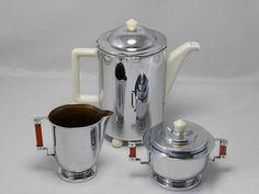 Online veilinghuis Catawiki: Best British Masters - 3-delig art deco koffieservies
