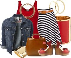 """""""Denim Jackets and Vest"""" by hope-houston on Polyvore"""