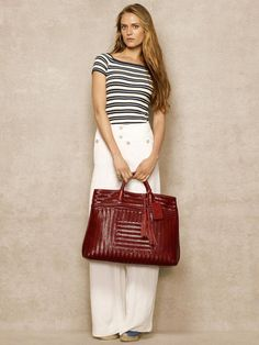Woven Vachetta Large Shopper - Ralph Lauren Handbags Handbags - RalphLauren.com   GreatwomenhandbagsIdeasIliked 1423162560323