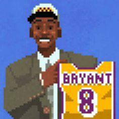 Kobe Bryant DOTS Illustration