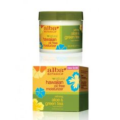 "Alba Botanica ""Natural Hawaiian Oil-Free Moisturizer"" in Refining Aloe & Green Tea:  this is the perfect moisturizer -- light and refreshing, nice clean scent, no clogged pores, pthalate free and all around awesome.  I've tried other AB products and this is hands-down the best."