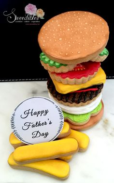 Burger Themed Cookies