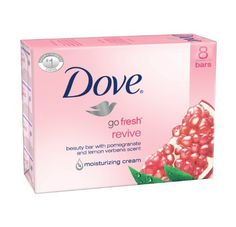 Dove Beauty Bar, Revive, 4.25 oz. Bars, 8 Count by Dove. $13.93. Dermatologist recommended. With 1/4 moisturing cream for total skin comfort. With pomegranate and lemon verbena scent. There are 8 bars, each bar is 4 Ounce (Total of 32 Ounce). Made in the USA. Dove beauty bar revive, with pomegranate and lemon verbena scent. A gentle awakening of your mind and skin. The lively, quenching scent of pomegranate and lemon verbena. The feeling that your skin just had a refreshing ...