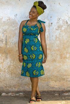 Kampala Fair Angelique Bow Dress (Knee Length)