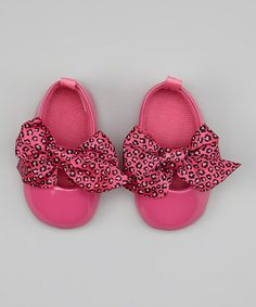 Another great find on #zulily! Hot Pink Leopard Bow Flat by Vitamins Baby #zulilyfinds