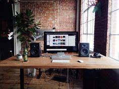 Workspaces. / Luke Beard's Desk. on We Heart It - http://weheartit.com/entry/126572450