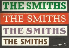 Japanese promotional stickers for The Smiths, from The Smiths In Posters FB page