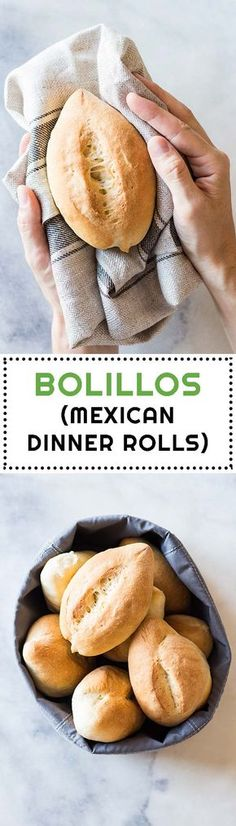 Mexican Dinner Rolls or Bolillos are the number 1 sold bread in Mexico City. The… Mexican Dinner Rolls or Bolillos are the number 1 sold bread in Mexico City. They are probably every Mexican's second favorite carbohydrate after tortillas. Mexican Sweet Breads, Mexican Bread, Mexican Dishes, Mexican Zucchini, Mexican Breakfast, Breakfast Recipes, Mexican Cooking, Mexican Food Recipes, Mexican Desserts