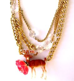 bambi-necklace from recycled material