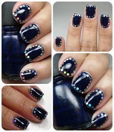Framed Nails #colourfulnails