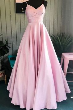 Prom Dresses Long Pink, Pretty Prom Dresses, A Line Prom Dresses, Grad Dresses, Formal Evening Dresses, Dance Dresses, Ball Dresses, Homecoming Dresses, Beautiful Dresses