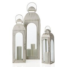 #zgallerie - The Alba Lantern helps bring back the beach feel with light washed color. The small one at only $24.95!