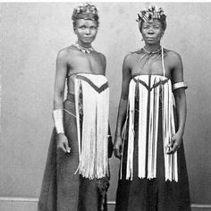 We don't even see such dress anymore. #Sad. #Conquered #LestWeForget  #Apartheid #Colonislism South African image from 1870 off @mzle_le page ( women wearing South Nguni breast covers by CF Williams)