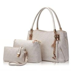 88f7c93e09b New 2016 Women Handbags Leather Handbag Women Casual Travel Bags Ladies  Brand Designs Bag Handbag+Messenger Bag+Purse 3 Sets