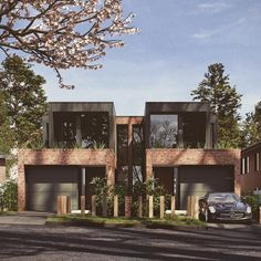 Under construction- one of our new dual occupancy- duplex developments. # dual occupancy # design # sydney # inside-out living Townhouse Exterior, Modern Townhouse, Townhouse Designs, Design Exterior, Facade Design, Duplex House Design, Modern House Design, Modern Brick House, Duplex Plans