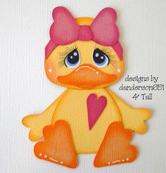 Duck with Bow Paper Piecing PreMade 4 Borders Scrapbook Album danderson651